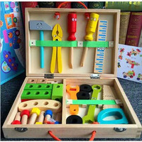 WOODEN SIMULATION TOOLBOX KIT PRETEND PLAY - mainan Montessori