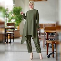Setelan Baju dan Celana Wanita Muslim Morita Set High Quality