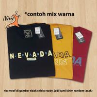 3 pcs Nevada Baju Kaos Pria Wanita T-shirt Distro