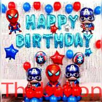 Paket Balon Dekorasi Avangers Simple Ulang Tahun