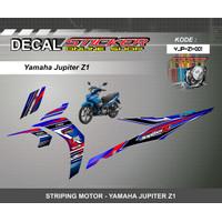 DEKAL STIKER MOTOR YAMAHA JUPITER Z1 STRIPING MOTIF RACING CUSTOM