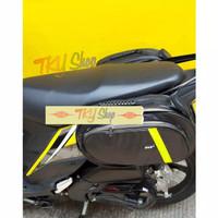 Tas Motor Side Bag Oval Samping Motor Sidebag Universal Anti Air