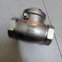 Swing Check Valve / Klep Tabok Stainless Drat 1/2  inchi DN 15