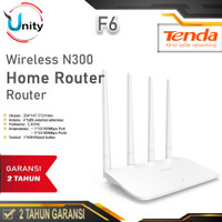 Tenda F6 Wireless Router 300Mbps N300 Easy Setup Router 4 Antena AP