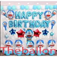 Paket Dekorasi Balon Foil Doraemon Ulang Tahun