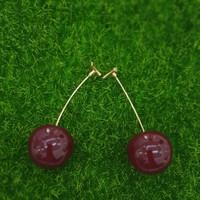 Cherry earrings/anting trendi unik lucu cherry burgundy