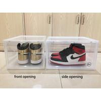 kotak sepatu transparan/shoes box ukuran besar (ekstra besar)