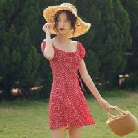 Dress merah mini baju wanita terusan bali pantai summer musim panas