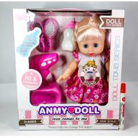 Anmy Doll Baby Boneka Bayi Alive Pipis Nangis Mainan Anak Perempuan
