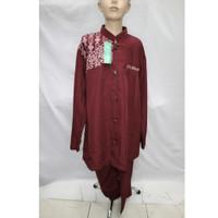 Baju Koko Jasko Jas Koko Muslim Merah Anak Lengan Panjang Murah