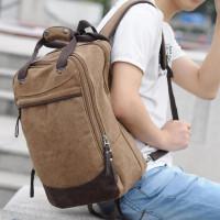 tas ransel backpack pria jinjing kanvas laptop kerja baliyo 9008