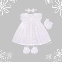 LOLITA White Newborn Baby Set Gift Kado Dress Baju Bayi Perempuan