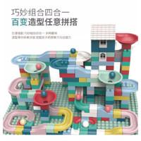 Mainan Block Bangunan Marble Run Maze Track Dengan Lego#173pcs