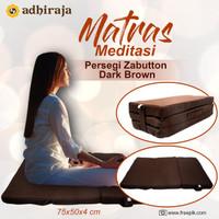 Matras / Bantal/Alas Meditasi/ Bantal doa Zabutton Persegi coklat 75x5