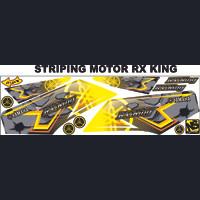STRIPING MOTOR RX KING KUNING STICKER