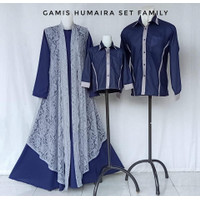 HUMAIRA SET FAMILY GAMIS COUPLE BAJU LEBARAN KELUARGA GAMIS PESTA
