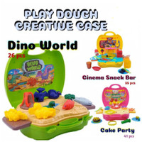 PLAYDOUGH CREATIVE CASE CAKE N PARTY / DINO WORLD / CINEMA SNACK BAR