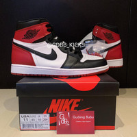 Nike Air Jordan 1 Retro High Black Toe 2016 ORIGINAL MATERIAL GUARANTE