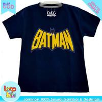 Kaos Anak Murah / Baju Anak Lelaki Batman Navy Blue 1-10 Tahun