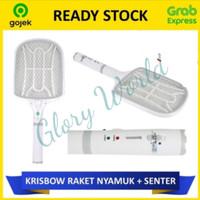 Krisbow Raket Nyamuk + Senter Rechargeable