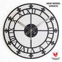 Jam Dinding Besar - FLEUR - Diameter 42 CM Jumbo