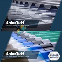 Solartuff Atap Polycarbonate Gelombang Greca dan Roma 1,8Meter - Clear