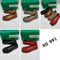 Sepatu Clarks Flat Art KD991 Women / Clark / Clarks Leather Flat Shoes