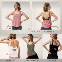 Tanktop Olahraga Wanita /Yoga Vest Backless