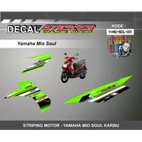 DEKAL STIKER MOTOR YAMAHA MIO SOUL KARBU STRIPING MOTIF RACING 01-05
