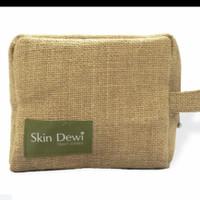 pouch goni custom dompet makeup bahan goni tas kosmetik custom