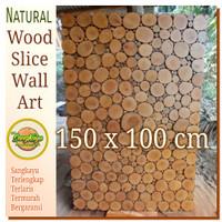Hiasan dinding 150x100cm Wood wall art bukan Wallpapers / Wallsticker
