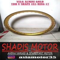 Velg Almini TDR U Shape Warna Gold Ukuran 185 Ring 17