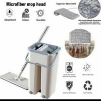 Alat pel ember set tanpa peras flat scratch mop multifungsi serbaguna