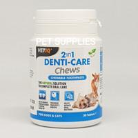 Pembersih karang gigi anjing kucing VETIQ 2IN1 DENTI-CARE (UK)