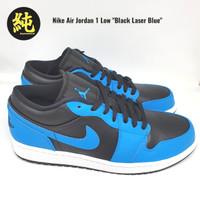 Sepatu Nike Air Jordan 1 Low Black Laser Blue 100% Original BNIB