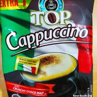 minuman kopi top cappuccino with crunchy choco malt renceng