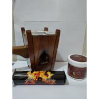 paket bukhur buhur gahru AMR dan arang magic dan tempat bakaran prapen