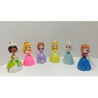 Princess Frozen Sofia Ganti Baju 6 Figure 12 Dress Mainan WC960
