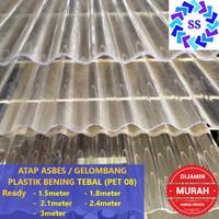 ATAP ASBES / GELOMBANG PLASTIK BENING TEBAL (PET 08)