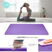 Inone Matras Yoga Mat Yoga Anti Slip Karet Berkualitas Lembut 10mm