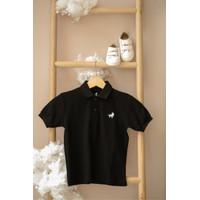 Polo Shirt Anak Little Warren Black