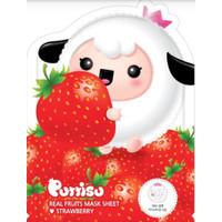Puttisu Masker Wajah Anak - Real Fruits Sheet Mask Strawberry