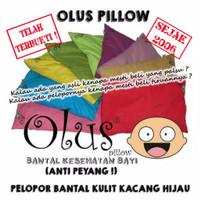 Bantal Olus Pillow / Bantal Anti Peyang Bantal Isi kulit Kacang Hijau - Enilate, Sarung