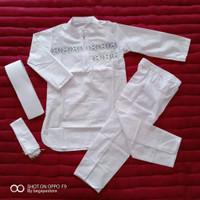 setelan baju koko pakistan warna putih anak ukuran 1 sampai 12 tahun