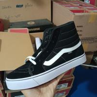 sepatu vans tinggi hitam putih old skhool sk8 high premium usa