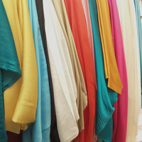 bahan kain seta silk/semi sutra/baby silk