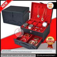 NEW Box Kotak Tempat Jam Tangan Sport Isi 6 + Perhiasan & Aksesories