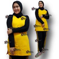 Stelan Kaos Training Muslim/Stelan Baju Trening Muslim