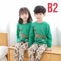 B2 Piyama Anak Laki laki Perempuan Setelan Anak / Baju Tidur 2 - 11 Th