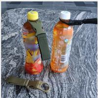 carabiner botol minum holder Bottle Hook buckle Bag nylon belt